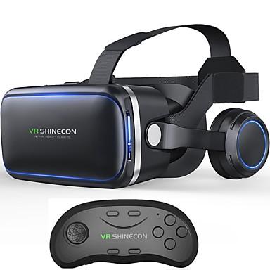 vritual reality shinecon 6.0 zestaw słuchawkowy bluetooth vr okulary do okularów 3d box do smartfonów 4.7-6.0 ze sterownikiem bluetooth