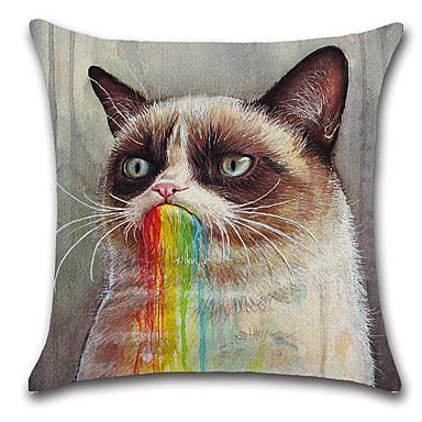 1 szt Cotton / Linen Poszewka na poduszkę Pokrywa Pillow, Klasyczny Zwierzę Nowość קלאסי Fason europejski Neoklasycyzm Tradycyjny /