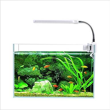 abordables Aquarium & Accessoires pour Poisson-Aquariums Aquarium Décoration d'aquarium / Eclairage LED Plusieurs Couleurs 360 Rotating Lampe à LED 110-220 V V Plastique