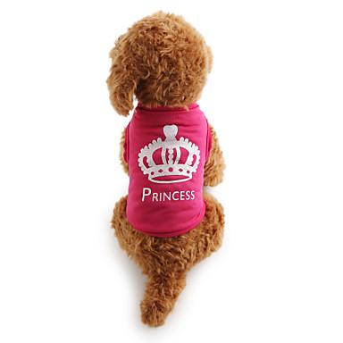 Pisici Câine Tricou Îmbrăcăminte Câini Casul/Zilnic Tiare & Coroane Trandafiriu Costume Pentru animale de companie