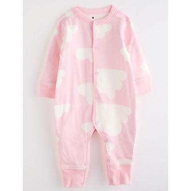 Baby Mädchen Mit Mustern Langarm Baumwolle Anzug & Overall