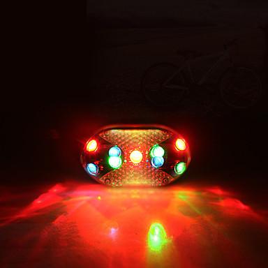 Tylna lampka rowerowa LED LED Kolarstwo Lśnienie, Oświetlenie LED, Regulacja rozmiaru Suche komorki 200 lm AAA Wielokolorowy Kolarstwo