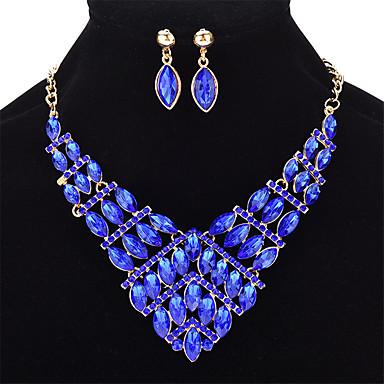Damskie Kryształ Geometric Shape Biżuteria Ustaw - Kryształ Moda Zawierać Jasnożółty / Czerwony / Niebieski Na Ślub Impreza