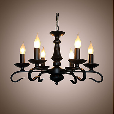 Modern Contemporary Candle Style Chandelier Ambient Light