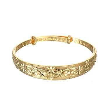 billige Motearmbånd-Dame Armringer Gypsophila Asiatisk Vintage Grunnleggende Kobber Armbånd Smykker Gull Til Fest Nyttår