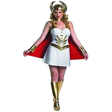 Bogini Athena Starożytna Grecja Kostium Damskie Spódnice White Postarzane Cosplay Poliester Bez rękawów Krótki kimonowy Krótka / Mini