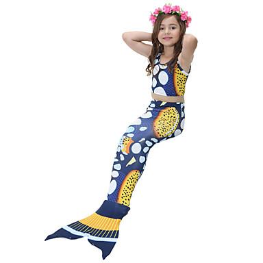 בנות חמוד פעיל דפוס בגדי ים, כותנה פוליאסטר ללא שרוולים פול