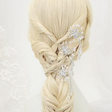 Kryształ / Kryształ górski / Stop Szpilka do włosów z 3 Ślub / Specjalne okazje Winieta