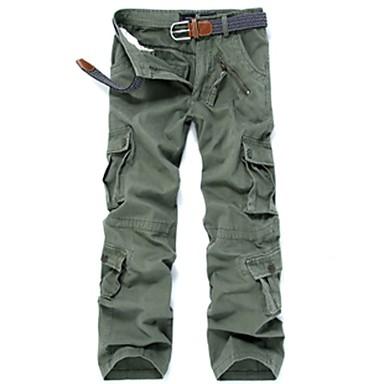 Męskie Spodnie cargo Na wolnym powietrzu Wiatroodporna, Zdatny do noszenia Zima Spodnie Multisport / Elastyczny / a
