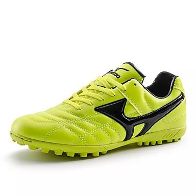 Herre sko Lær Vår Høst Komfort Sportssko Fotball Svart Grønn