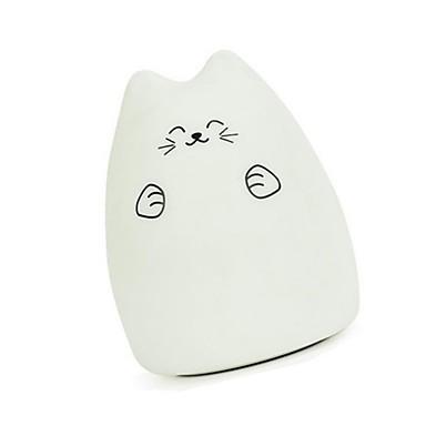hhy nowy 7 kolorów kot led usb dzieci zwierząt noc światło silikonowe miękkie cartoon baby przedszkole lampa oddychania led światło nocne