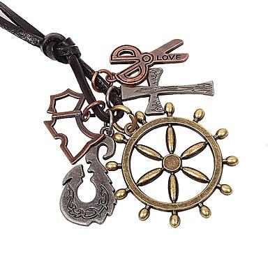 voordelige Dames Sieraden-Heren Hangertjes ketting Kruis Scharen Rock Modieus Legering Bronzen Kettingen Sieraden 1 Voor Dagelijks Uitgaan