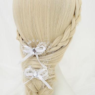 Sztuczna perła / Kryształ górski / Stop Spinka do włosów z 2 szto. Ślub / Specjalne okazje Winieta