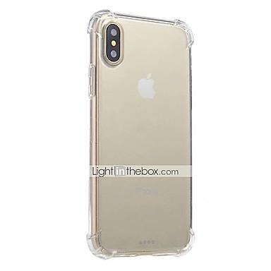 מגן עבור Apple iPhone X iPhone 8 iPhone 8 Plus iPhone 6 iPhone 6 Plus עמיד בזעזועים שקוף כיסוי אחורי צבע אחיד רך TPU ל iPhone X iPhone 8