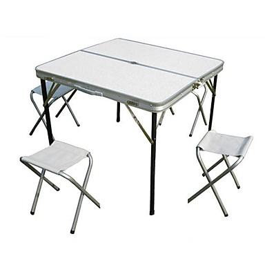Para A Doblez 1 Personas Aluminio Camping Plegable Aleación Taburetes Con 4 3 Primavera Plata Otoño Mesa De eWH2IY9ED