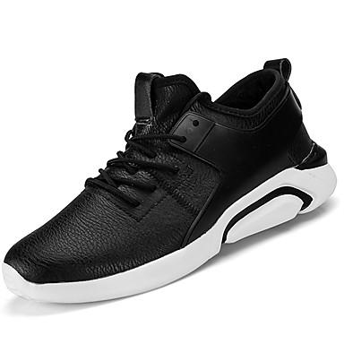 Męskie Komfortowe buty Sztuczna skóra / Materiał do wyboru Jesień / Zima Buty do lekkiej atletyki Bieganie Zero Biały / Czarny