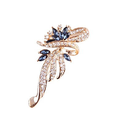 Men s Women s Brooches Leaf Fashion Brooch Jewelry Silver Purple Blue For  Gift Daily 3b77dc726573