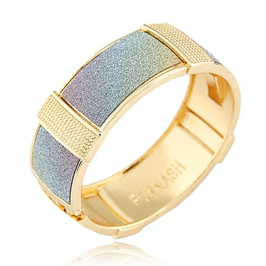 Damskie Bransoletki bangle Bransoletki cuff - Vintage Duże Modny Circle Shape Geometric Shape Gold Silver Rainbow Bransoletki Na Impreza