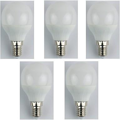 5szt 4 W 310 lm E14 Żarówki LED kulki G45 6 Koraliki LED SMD 3528 Ciepła biel 180-240 V