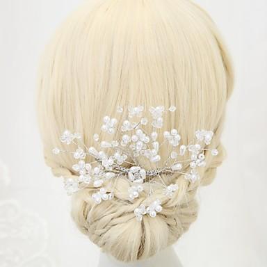 Kryształ Imitacja pereł Stop Grzebienie do włosów 1szt Ślub Specjalne okazje Winieta