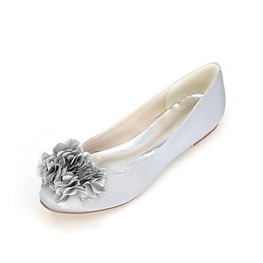 Printemps Plat Chaussures mariage Invalide Perle rond Invalide Femme Talon de 06457970 Confort Chaussures Imitation Bleu Satin Bout Eté vfEqn0xg