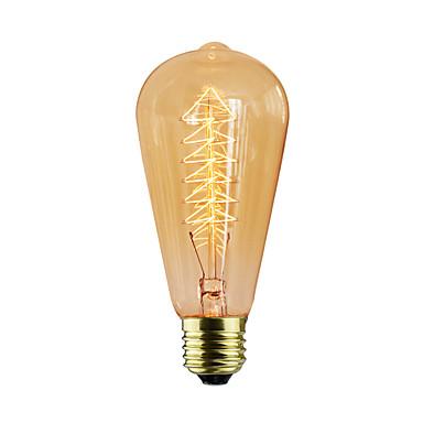 1pc 40 W E26 / E27 / E27 ST64 Sıcak Beyaz Incandescent Vintage Edison Ampul 220-240 V / 110-130 V
