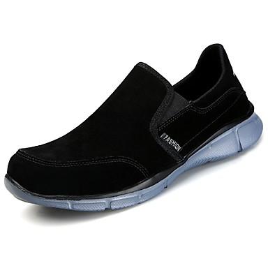 Męskie Buty PU Jesień Comfort Mokasyny i pantofle Spacery na Casual Black Beige Purple