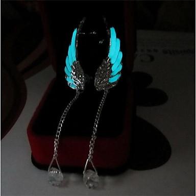 Damskie 2szt Kolczyki wiszące , Świecący Podświetlony Modny Stop Skrzydła / Feather Biżuteria Light Blue Codzienny Bar Biżuteria