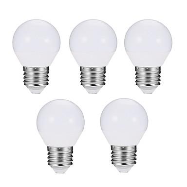 EXUP® 5pcs 5W 560 lm E27 Żarówki LED kulki G45 10 Diody lED SMD 5730 Przysłonięcia Dekoracyjna LED Light Ciepła biel Zimna biel AC 180-240