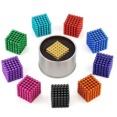 216 pcs 3mm Magnetiske leker Magnetiske kuler Byggeklosser Puzzle Cube كلاسيكي Stress og angst relief Focus Toy Office Desk Leker Gutt Jente Leketøy Gave