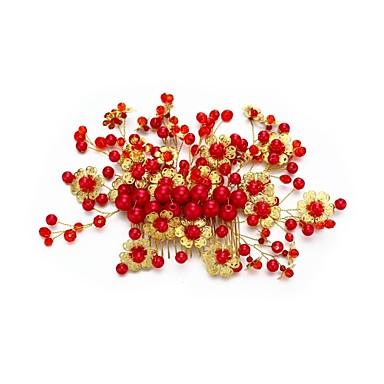 Kryształ Imitacja pereł Stop Grzebienie do włosów with Kryształki Faux Pearl Grzebień Flower 1szt Ślub Specjalne okazje Winieta