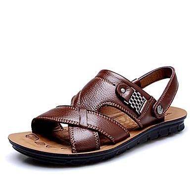 Muškarci Cipele Koža Proljeće Ljeto Udobne cipele za Kauzalni Vanjski Crn žuta Braon