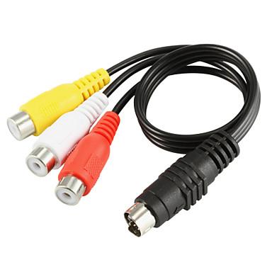 Yongwei s-video erkek-3-rca dişi adaptör kablosu (0.2m)
