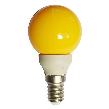 billige Elpærer-1pc 0.5 W LED-globepærer 15-25 lm E14 G45 7 LED perler Dyp Led Dekorativ Gul 100-240 V / RoHs