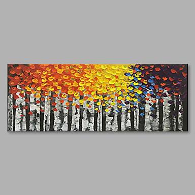 Hang-Malowane obraz olejny Ręcznie malowane - Krajobraz Nowoczesny Płótno / Zwijane płótno