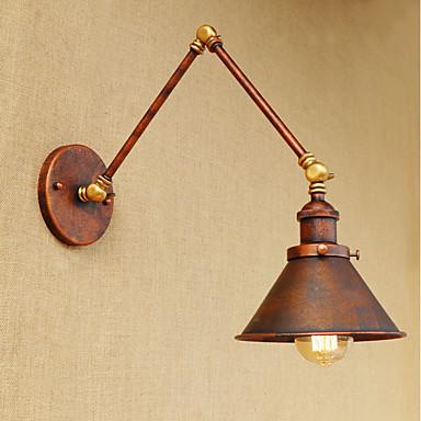 industrial nostalgia osobowość loft czarny parasol sekcja podwójna kinkiet 110-120v / 220-240v led 40w