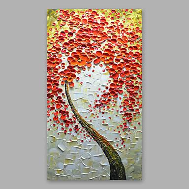 ציור שמן צבוע-Hang מצויר ביד - פרחוני / בוטני מודרני בַּד / בד מתוח