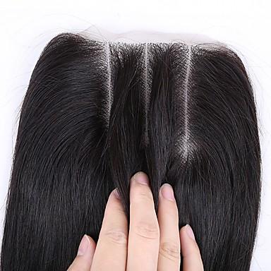 סגירת 3.5x4 קלאסי 3 חלק שיער אנושי יומי