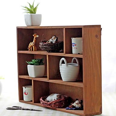 עץ / במבוק רב שימושי בית אִרגוּן, 1pc ארונות אחסון