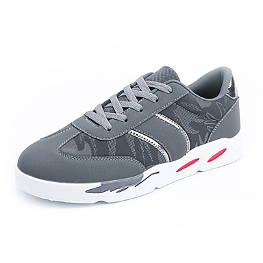 בגדי ריקוד גברים PU אביב / סתיו נוחות נעלי אתלטיקה שחור / אפור / אדום