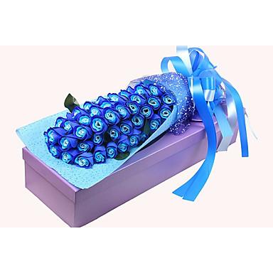 קישוטים לחג חג האהבה זרי פרחים ועיטורים אדום / כחול / ורוד 1pc