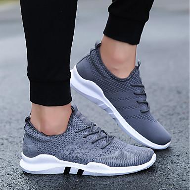 בגדי ריקוד גברים רשת / דמוי עור / PU אביב / חורף נוחות נעלי אתלטיקה לבן / שחור / אפור / ריצה