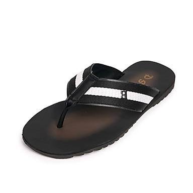 בגדי ריקוד גברים נעליים ג'ינס אביב / קיץ נוחות כפכפים & כפכפים שחור