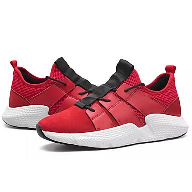 בגדי ריקוד גברים PU חורף נוחות נעלי אתלטיקה שחור / אפור / אדום / ריצה