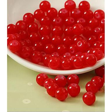 תכשיטים DIY 80 יח חרוזים זכוכית פוקסיה קפה ורוד ורד אדום ירוק עגול חָרוּז 1 cm עשה זאת בעצמך שרשראות צמידים