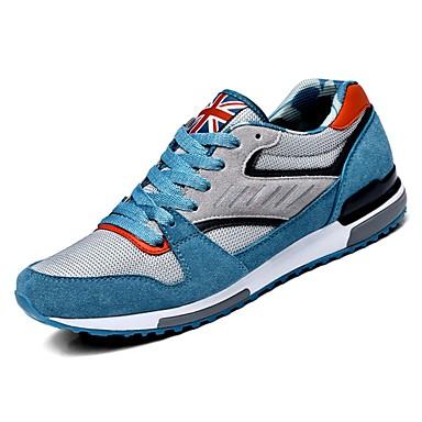 בגדי ריקוד גברים PU סתיו נוחות נעלי אתלטיקה שטח כחול כהה / כחול בהיר