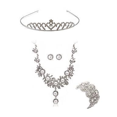 b0cf4a2ec Mulheres Conjunto de jóias Imitações de Diamante Europeu