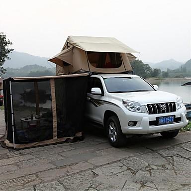 Deerke 4 איש אוהל-גג / משפחה אוהל קמפינג שכבה כפולה עמוד אוהל בקתה קמפינג אוהל שני חדרים חיצוני עמיד, מוגן מגשם ל מחנאות וטיולים / מחנאות / צעידות / טיולי מערות / פיקניק 2000-3000 mm בד אוקספורד