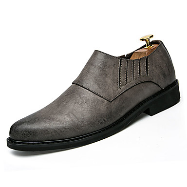 Men's PU Comfort Leather Spring / Fall Comfort PU Loafers & Slip-Ons Black / Gray / Brown 17e1a2