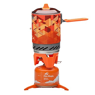 cheap Camp Kitchen-Camping Stove Camping Burner Stove Outdoor Cookware One-piece Suit Heat Insulated for 3 - 4 person Stainless Steel Outdoor Camping Orange